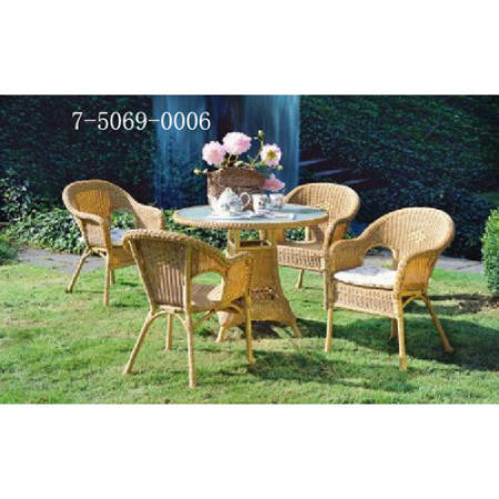 TABLE WITH GLASSS TOP AND 4 CHAIRS (СТОЛ С Стеклобанки TOP и 4 стула)