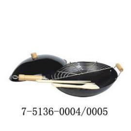 14 INCH-STICK CHINESE WOK SET (WOODEN HANDLE) (14 INCH-STICK китайской вок SET (деревянная ручка))
