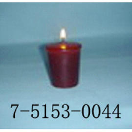 WINE RED CUP-SHAPED CANDLE