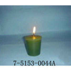 GREEN CUP-SHAPED CANDLE