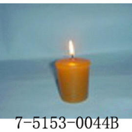 YELLOW CUP-SHAPED CANDLE