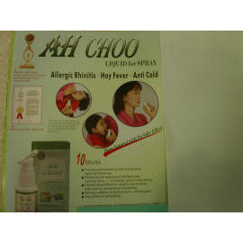 Natural Herbal Remedy - AH CHOO: Spray form for Allergic Rhinitis, Hay Fever and