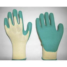 NATURAL RUBBER COATED SEAMLESS WORK GLOVES (ПРИРОДНЫЙ резиновой БЕСШОВНЫЕ рабочие перчатки)