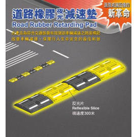 road rubber retarding pad