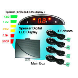 Speaker Warning LED Display Parking Sensor