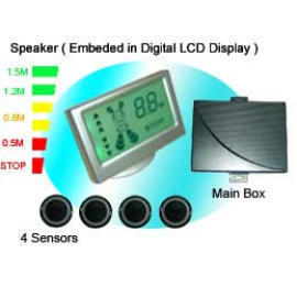 Speaker Colorful LCD Display Parking Sensor