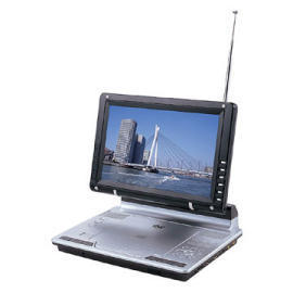 Portable DVD+TV+MP4/Divx+USB+Card Reader with Build in Lithium battery.