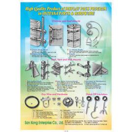 Mounting Hardware;Antenna;Cable TV (Монтаж оборудования; антенна, телевизор)
