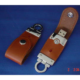 Leather Keychain with Memory