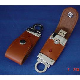 Leather Keychain with Memory (Кожа брелок для ключей с памятью)