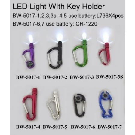 LED light with key holder