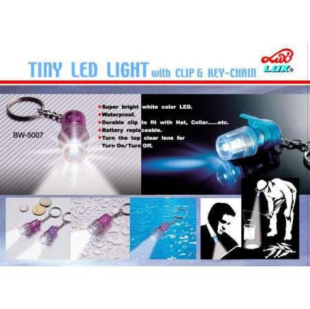 TINY LED LIGHT W/ CLIP & KEY CHAIN