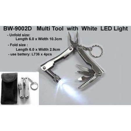 Multi tool with white LED light