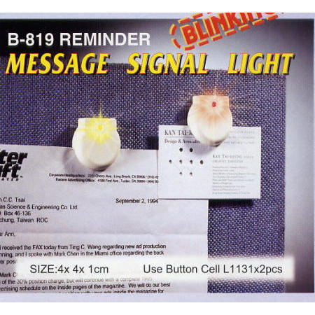 B-819 REMINDER - MESSAGE SIGNAL LIGHT
