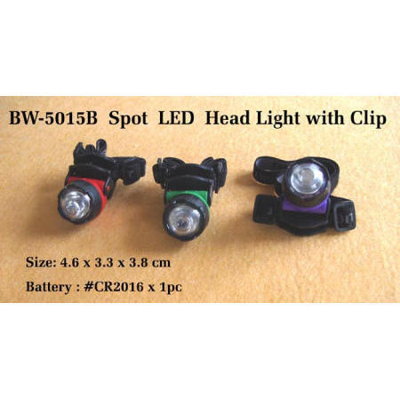 Spot LED head light with clip