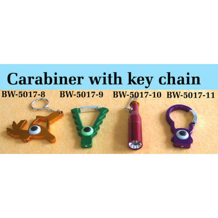 Carabiner with key chain