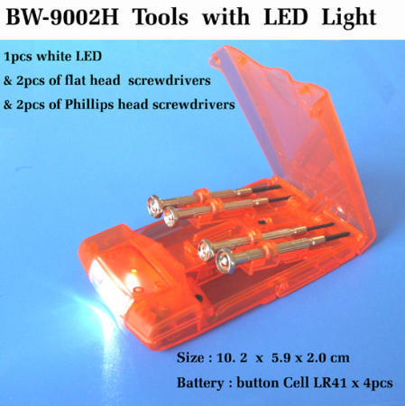 Tools with LED light