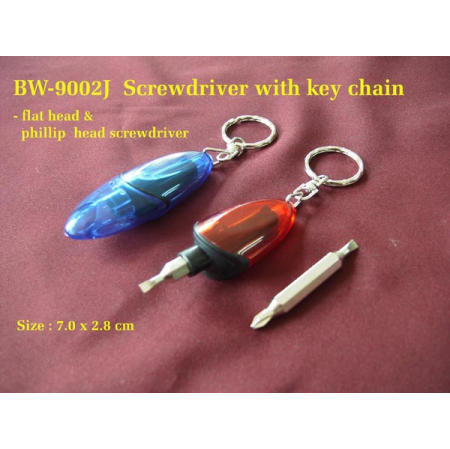 Screwdriver with key chain