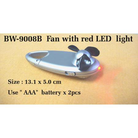 Fan with red LED light (Вентилятор с красной светодиодной света)