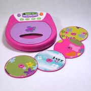 Discgirl CD Player Features 28 Fun Songs