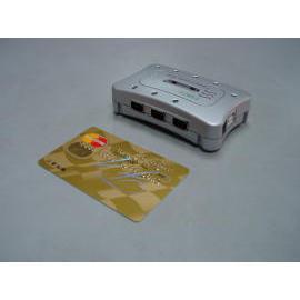Credit card size 7-port FireWire / USB2.0 Combo Hub