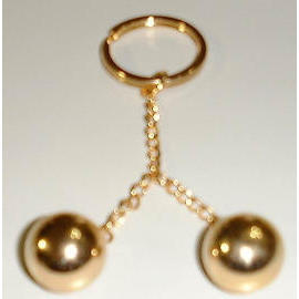 2 Balls Key Chain