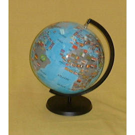 EH-168P 16`` Inflatable Flag Globe w/Stand