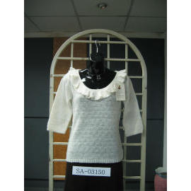Ladies` 6.5G Pullover Knitting Sweater
