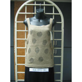 Ladies` Sleeveless 6.5G Knitting wear