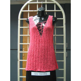 Ladies` Sleeveless 5G Knitting wear