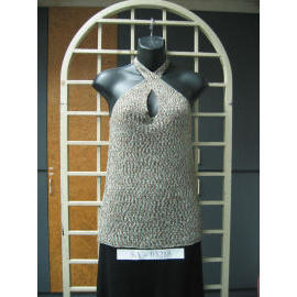 Ladies` Sleeveless & bare-backed 3G Knitting wear