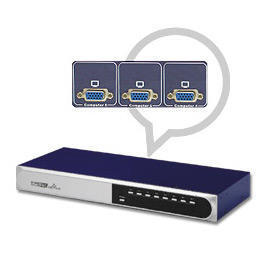 8 Port slim Rack Mountable PS2 KVM switch (8 портов Slim R k Mountable PS2 KVM переключатель)