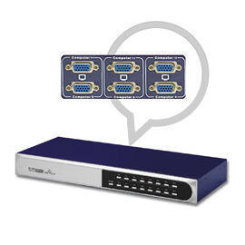 16 Port slim Rack Mountable PS2 KVM switch (16 портов Slim R k Mountable PS2 KVM переключатель)
