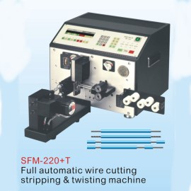 FULL AUTOMATIC WIRE CUTTING,STRIPPING AND TWISTING MACHINE