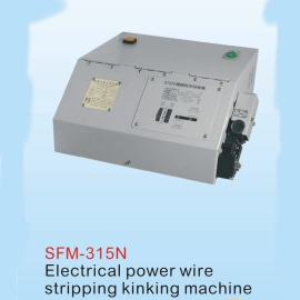 ELECTRICAL POWER WIRE STRIPPING KINKING MACHINE