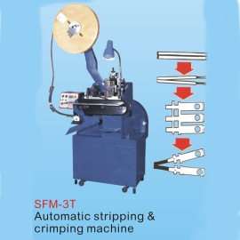 AUTOMATIC STRIPPING & CRIMPING MACHINE
