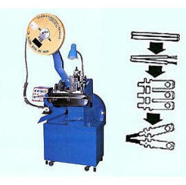 Automatic AC wire stripping & crimping machine