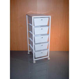 5 PLASTIC DRAWER CABINET