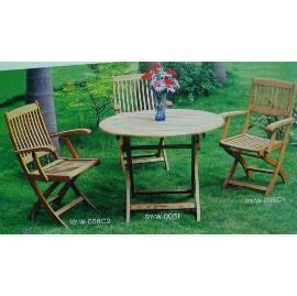 Garden furniture, wooden