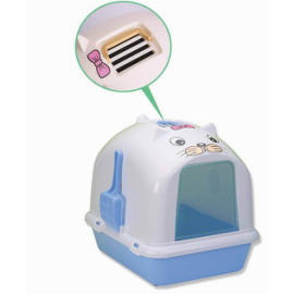 Cat litter pan with scoop & cover