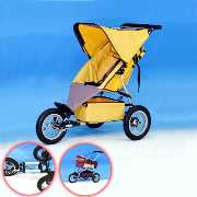 Baby Strollers with Wide Chassis