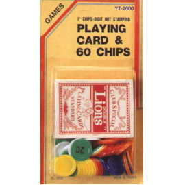 Playing card with Chips