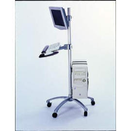 (1j)LCD Mobile Computing Workstation Cart