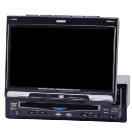 In-dash car TFT LCD monitor with built-in DVDplayer
