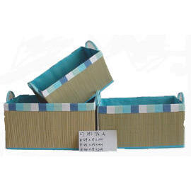 Straw Mat Box With PVC