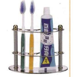 Standing toothbrush & paste holder C.P. brass (Постоянная зубная щетка & Paste Организатор  .P. латунь)