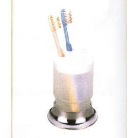 Standing toothbrush & tumbler holder C.P. zinc (Постоянная зубная щетка & стакан Организатор  .P. цинк)