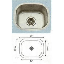 Stainless steel sink Overall Size: 15x11-3/4``, Big bowl: 13x10-3/4x7``