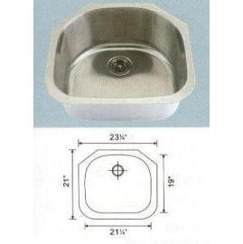 Stainless steel sink Overall Size: 23-1/4x21-1/8`` Big bowl: 20-3/4x18-3/4x6``