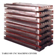 Table of CNC Machine Center